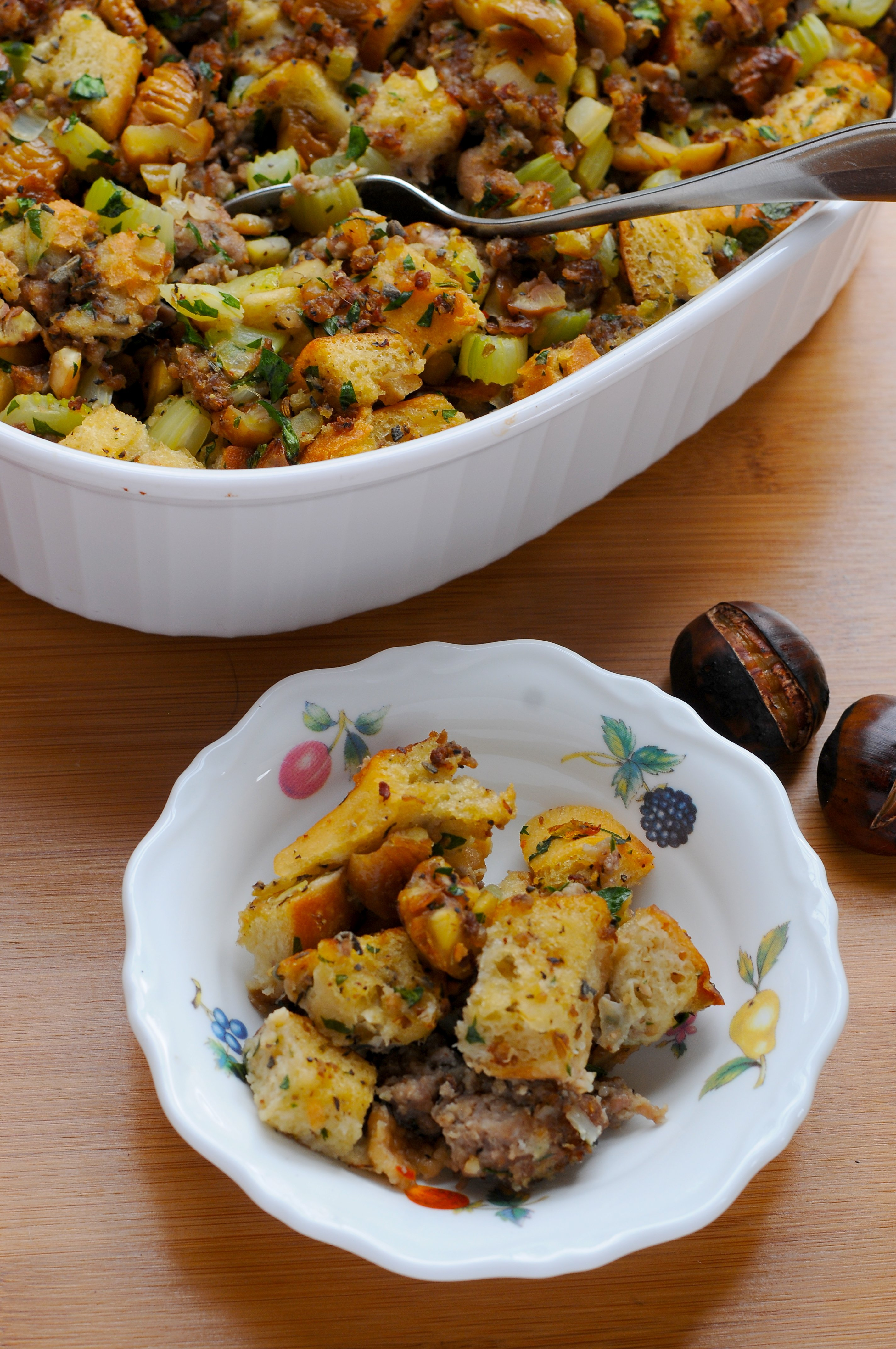 Over the Top, Roasted Chestnut & Sausage Stuffing