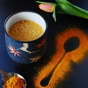 Turmeric Milk with Honey and Ginger