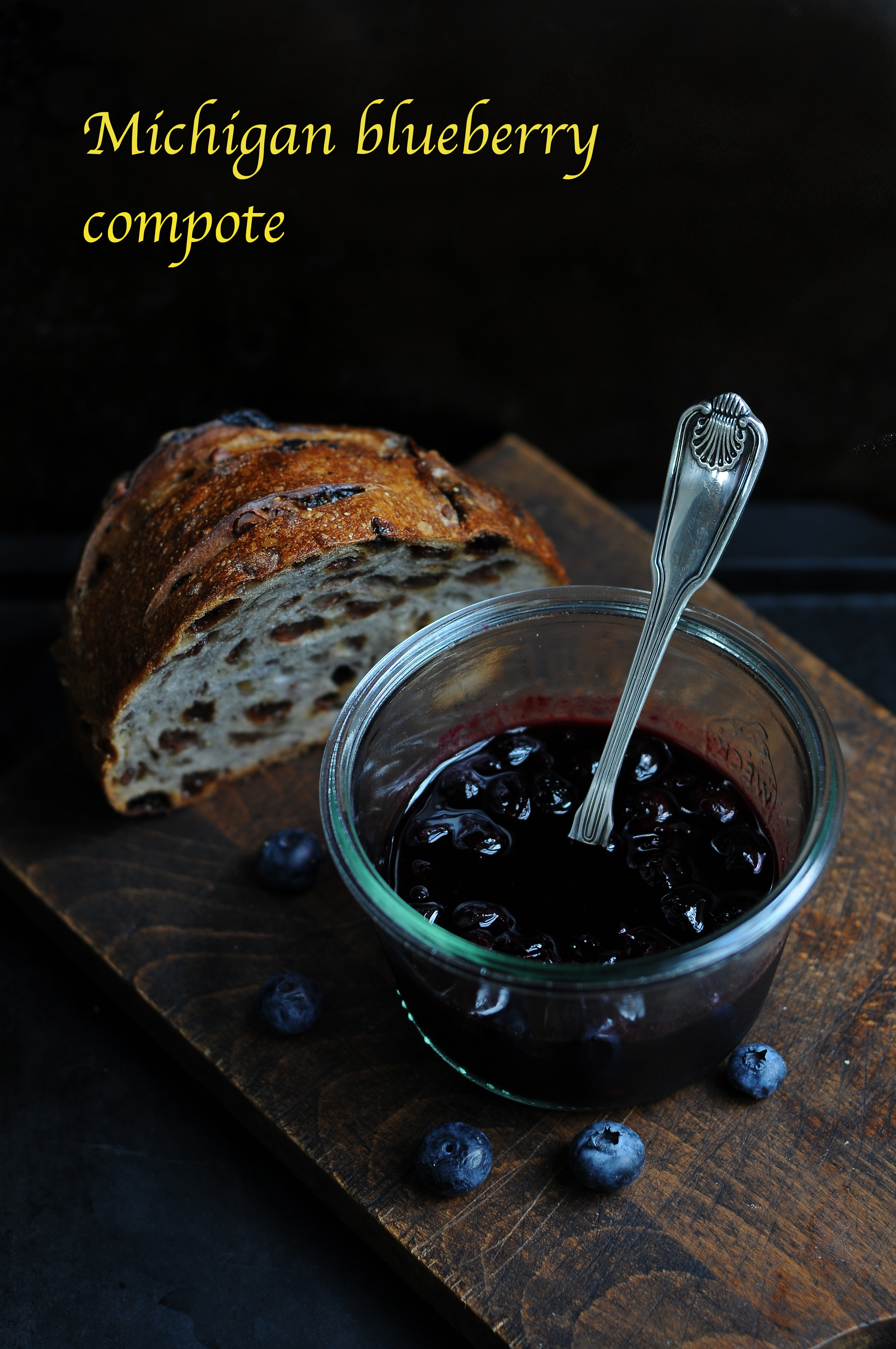 Michigan blueberry compote