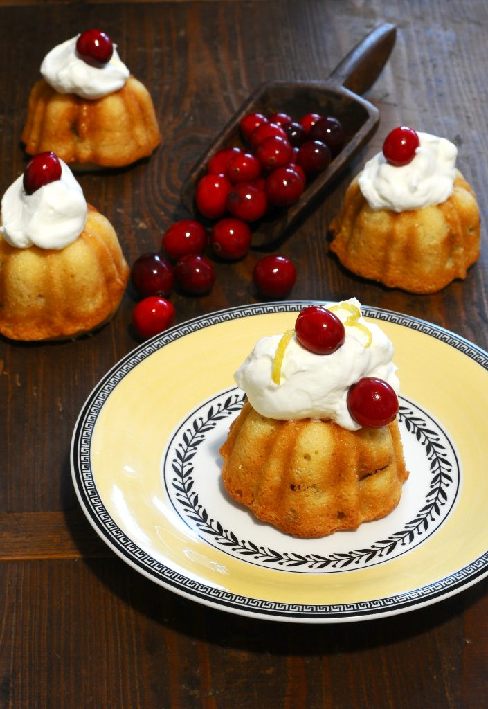 Lemon cranberry bundt cake