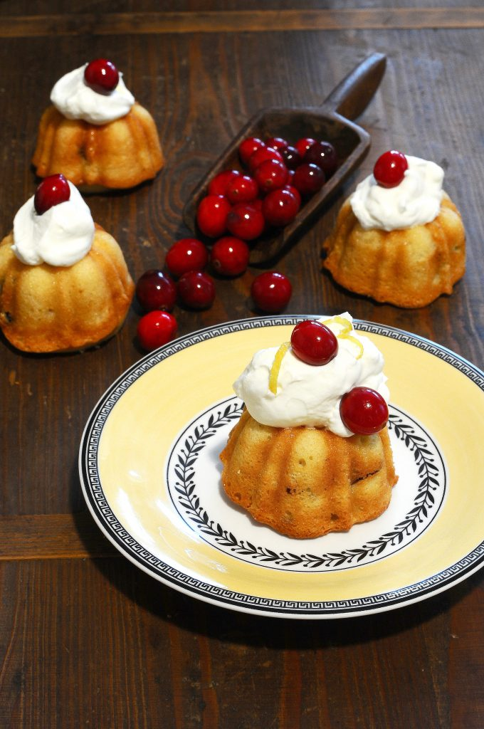 lemon cranberry bundt cake