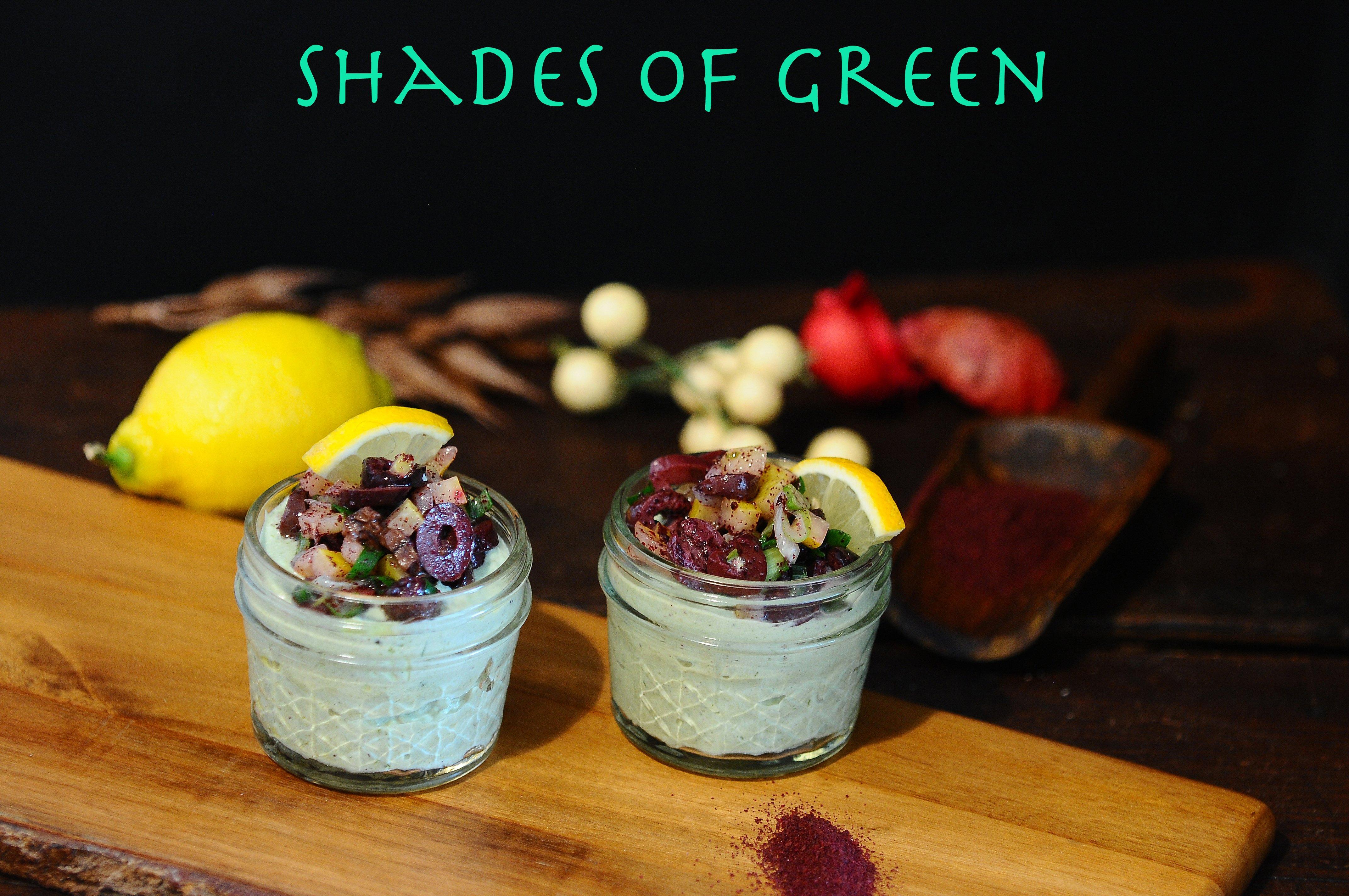 Yogurt, Kale, Preserved Lemon, Sumac and Kalamata Olives.