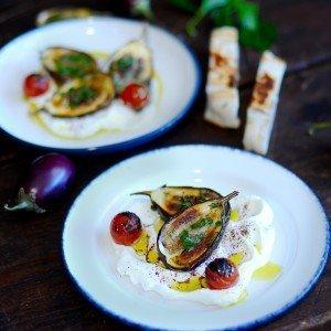 Labneh, Roasted Eggplants & Sumac