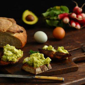 California avocado chimichurri egg salad