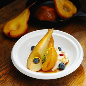 Whipped Cow's Milk Ricotta & Maple Roasted Pears