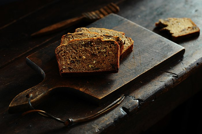 Roasted Banana Chocolate Bread