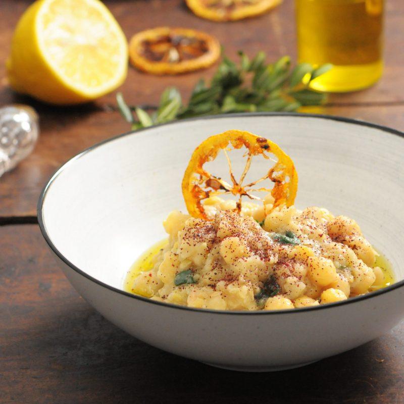 Lemon Chickpeas with Kale, Sumac and EVOO